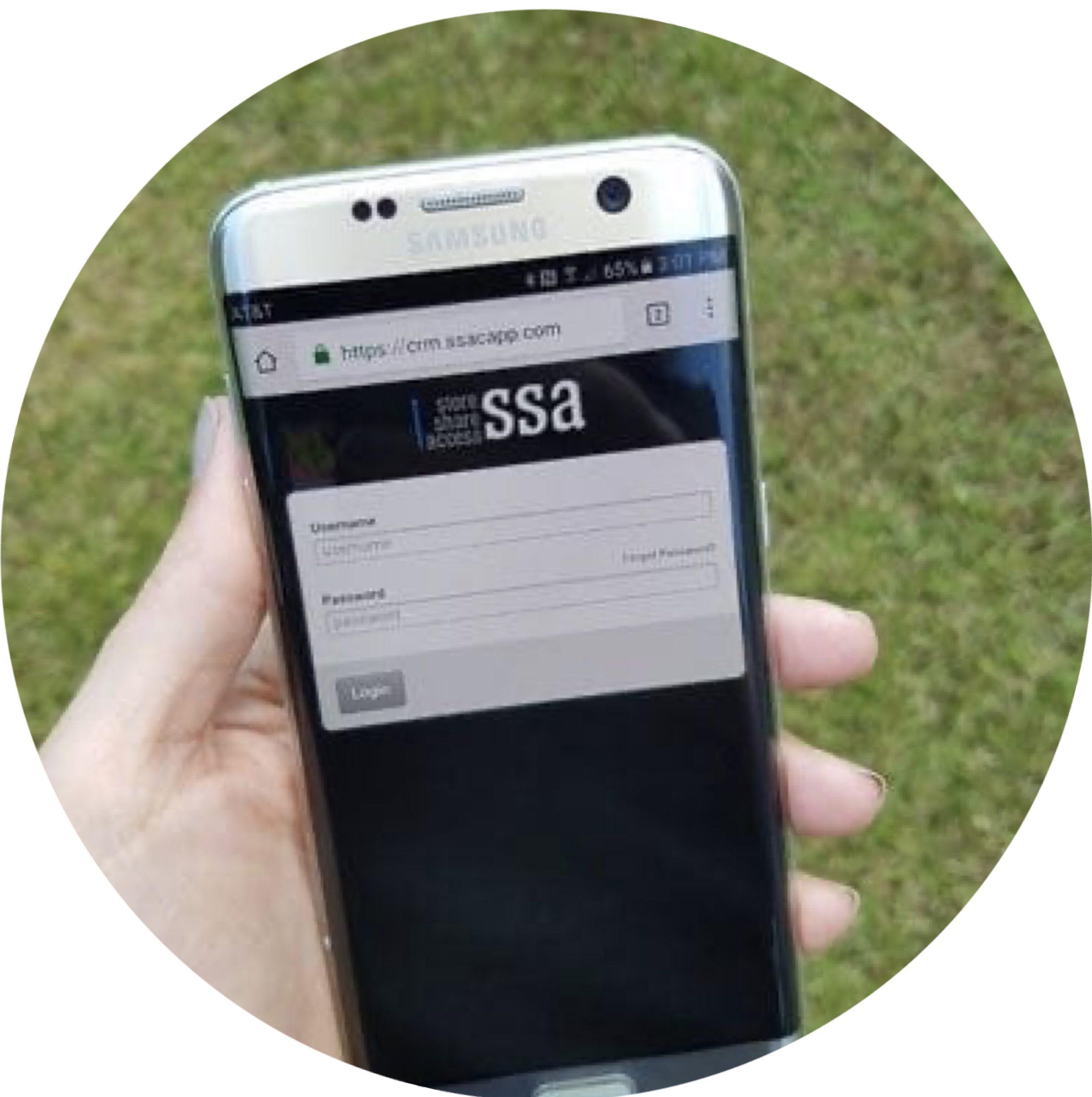 SSA app on samsung